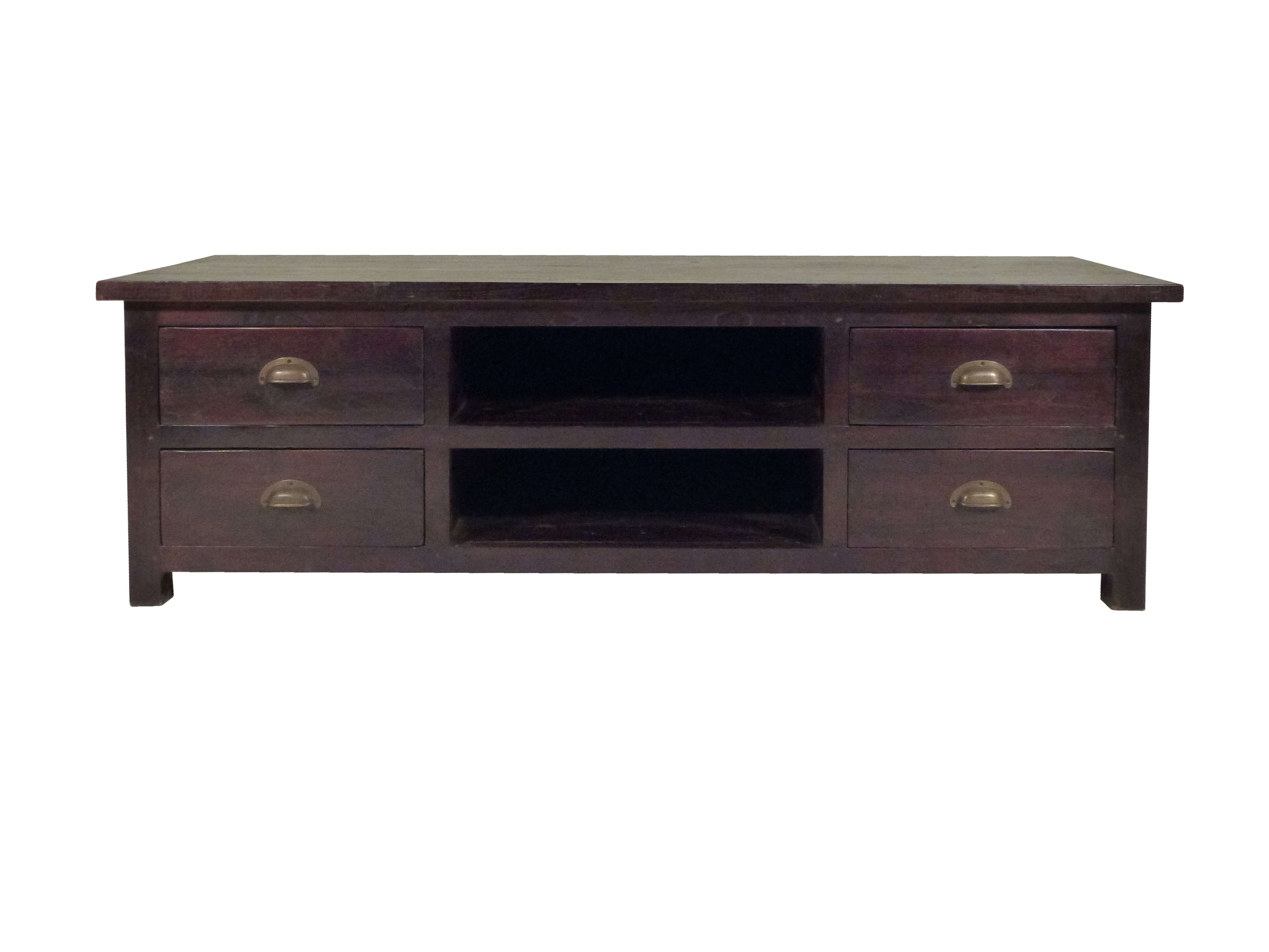 Koloniaal Tv Meubel : Koloniaal tv dressoir met 2 open vakken en 4 lades ajc meubelen