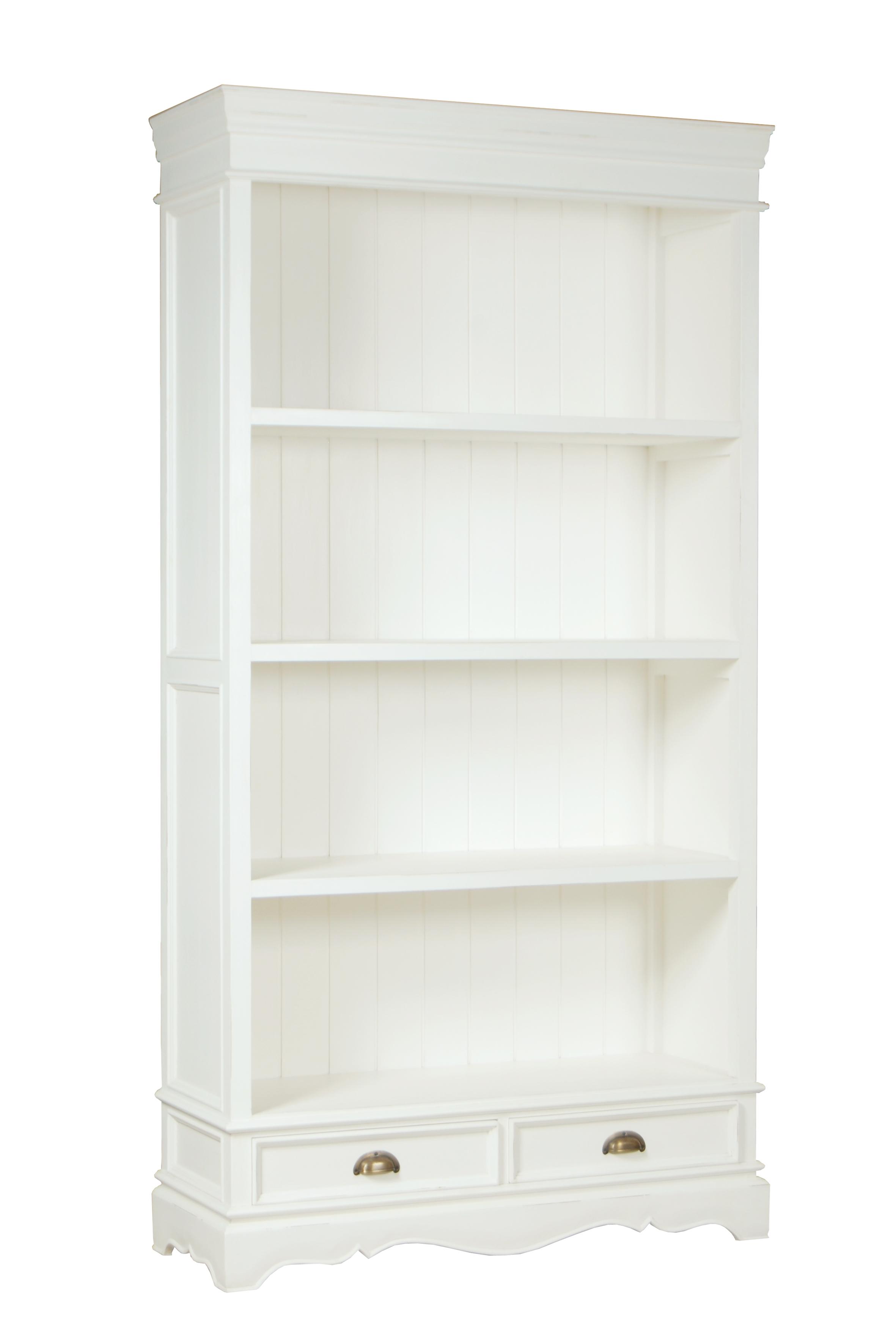 smalle white wash boekenkast